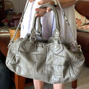 Marc Jacobs Groovy Q Satchel Quilted Gray